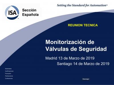 portada monitorización de válvulas de seguridad